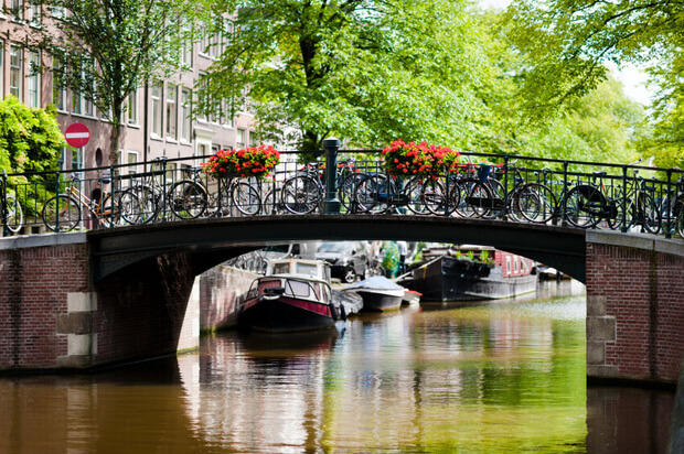 Bridge over Amsterdam canal