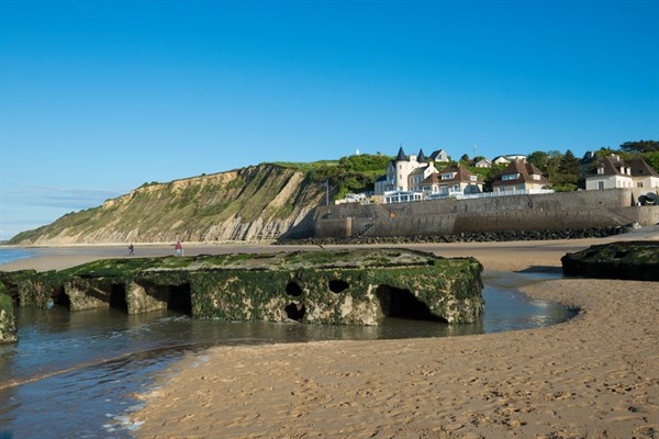Wwii Harbor Remains In Arromanches France